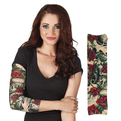 Tattoosleeves Roses bunt