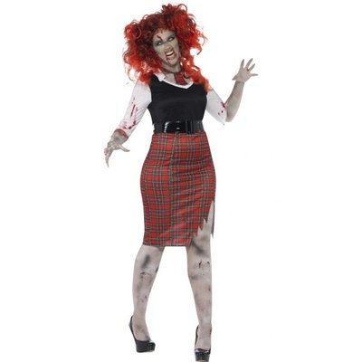 Smiffys Curves Zombie School Girl