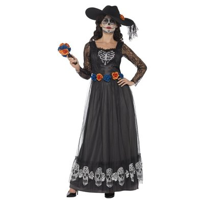 Smiffys Day of the skeleton bride costume S