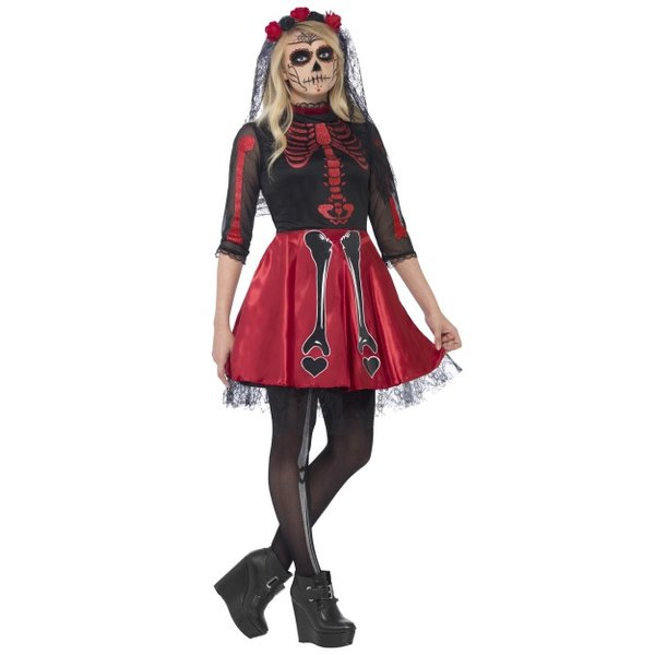 Smiffys Day of the dead Diva Costume