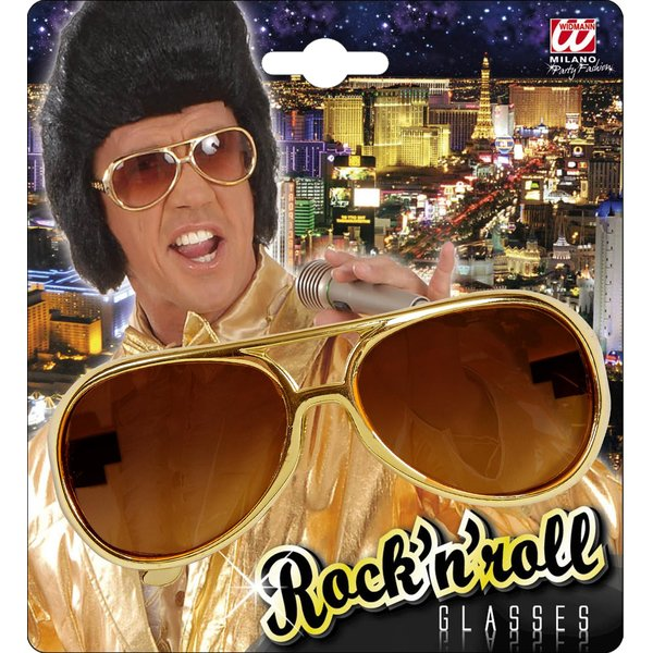 Rock´n´Roll Brille gold