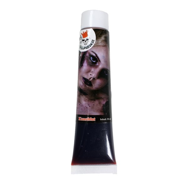 Kunstblutblut Tube 30 ml Theaterblut oder Filmblut von King of Halloween